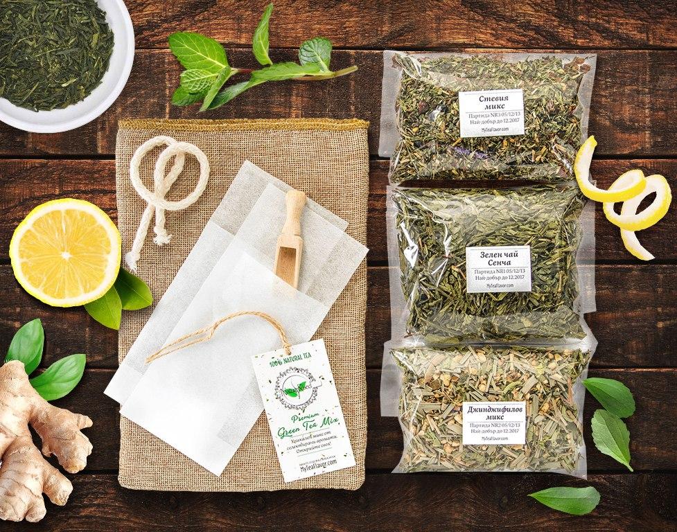 Премиум микс зелен чай